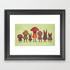The Forest Lurkers Framed Art Print
