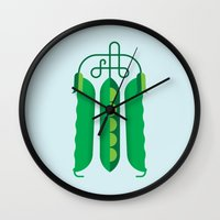 Vegetable: Snap Pea Wall Clock