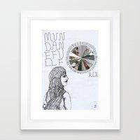 Mundane Full Force.  Framed Art Print