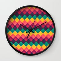 Happy Day Pattern Wall Clock