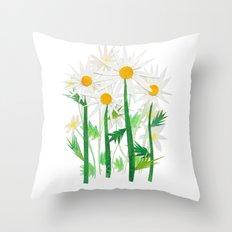 Danish Daises Throw Pillow