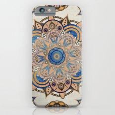 Blue and Gold Mandala iPhone 6 Slim Case