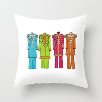 Sargent Peppers Throw Pillow