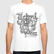 Thankful White Mens Fitted Tee SMALL