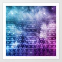 Galaxy Fade Art Print