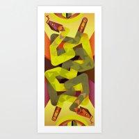Rattlesnakes Art Print