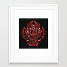 Fire and Blood Framed Art Print
