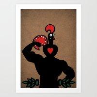 Nando Muscle!  Art Print