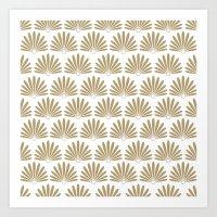 White & Tan Daisies Art Print