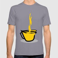 Coffee Mens Fitted Tee Slate SMALL