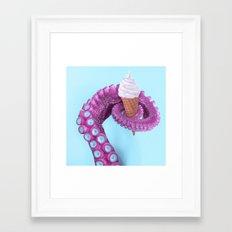 OCTOPUS ICE CREAM Framed Art Print