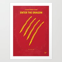 No026 My Enter The Drago… Art Print