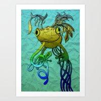 Psychoactive Frog Art Print