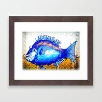 Blue Fin Framed Art Print