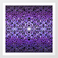Floral abstract background G103 Art Print