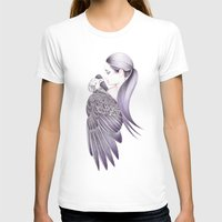 Eagle Fly Free Womens Fitted Tee White SMALL