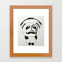 Professor Panda Framed Art Print
