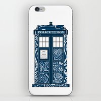 Tardis Blue iPhone & iPod Skin