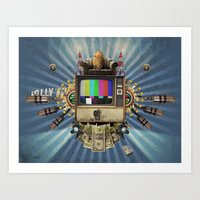 The  Television Will Not… Art Print