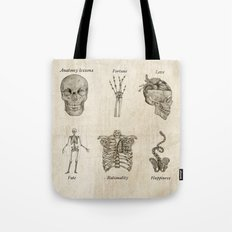 Anatomy lessons Tote Bag