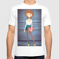 Lady Lady Mens Fitted Tee White SMALL