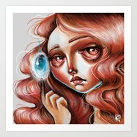 Soul Gem :: Red Headed S… Art Print