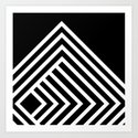 Tremendous Stripe-White&Black Art Print