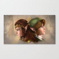 Link and Zelda Canvas Print