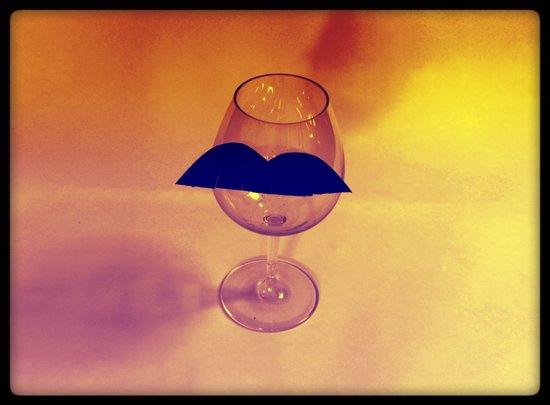 Hipster Wine Glass Art Print