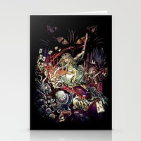 Zombies in Wonderland Stationery Cards