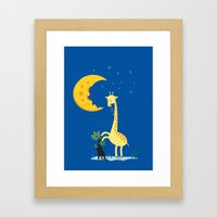 The Delicious Moon Cheese Framed Art Print