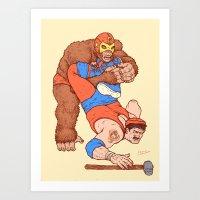 Gorilla Clutch Art Print
