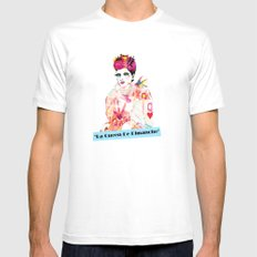 La Queen De Dimanche / The Queen of Sunday Mens Fitted Tee White SMALL