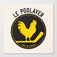 Le Poolayer Canvas Print