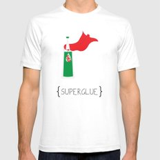 SuperGlue Mens Fitted Tee White SMALL