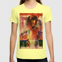 Pulse  Womens Fitted Tee Lemon SMALL