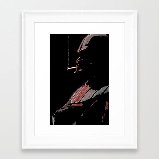 The Smoke Break Framed Art Print