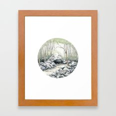 Crop circle 01 Framed Art Print