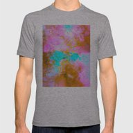 Curly Abstract Mens Fitted Tee Athletic Grey SMALL