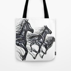 Abstract race Tote Bag