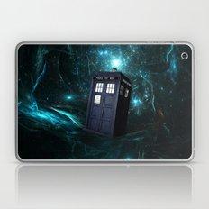 Flying Tardis On Space Laptop & iPad Skin
