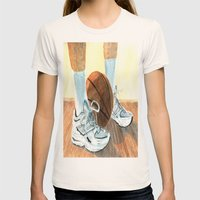 Basketball Shoes Womens Fitted Tee Natural SMALL