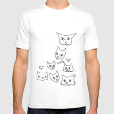 Cats Cat SMALL White Mens Fitted Tee