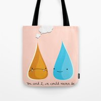 Water and Fire- A Tragic Love Affair Tote Bag