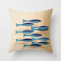 Fish on the Line Throw Pillow