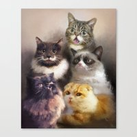 Cats On The Internet Canvas Print