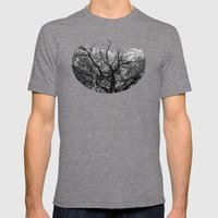 Castle Tree Mens Fitted Tee Tri-Grey SMALL