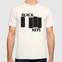 The Black Piano Keys Mens Fitted Tee Natural SMALL