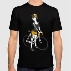 Fix Girl Black SMALL Mens Fitted Tee