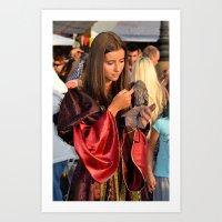 Renaissance Dressed Bea… Art Print